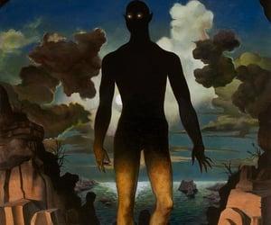 dark fantasy, painting, and sea image
