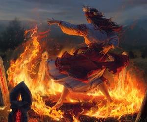 bonfire, folklore, and wreath image