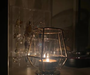 alcohol, candle, and light image