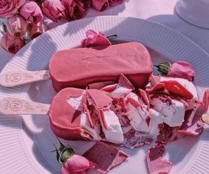 ice cream, cream, and food image