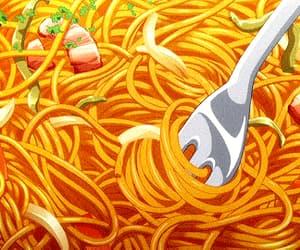 anime, dinner, and gif image