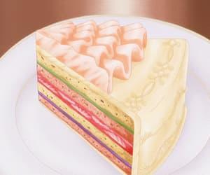anime, cake, and gif image