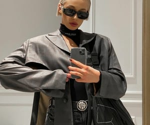 black, coats, and cool image