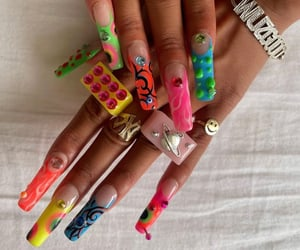 acrylics, alternative, and bling image
