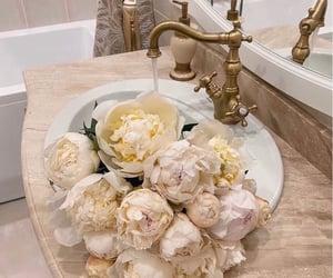 flowers, peonies, and white peonies image
