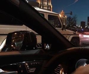 night, car, and city image