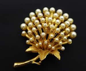 dandelion seeds, flower brooch, and thejewelseeker image