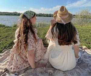 nature, summer, and friends image