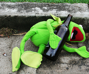 drunk and frog image