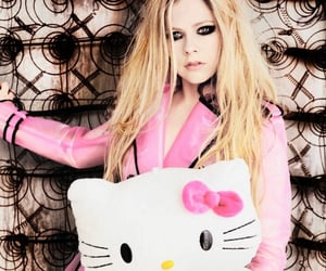Avril Lavigne, pink, and hello kitty image