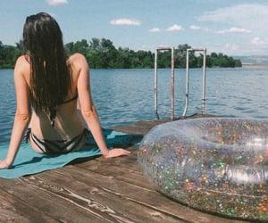 analog, girl, and meditation image