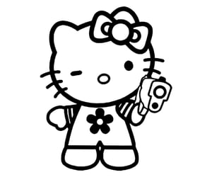 archive, drain, and hello kitty image