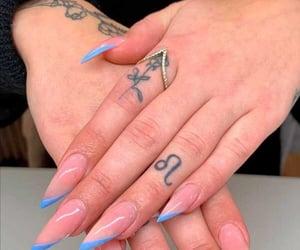 beauty, blue nail polish, and clean image