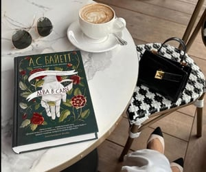 book, shoes, and coffee image