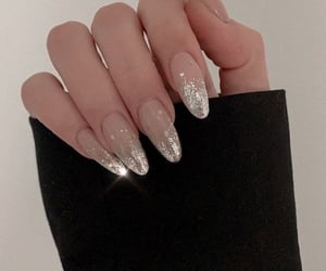 nails, glitter, and fashion image
