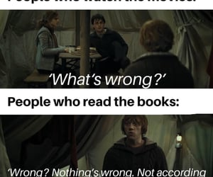 books, hermione, and ron weasley image
