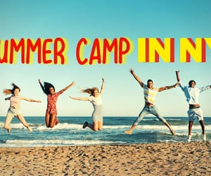 summer camp and camp for boys and girls. image