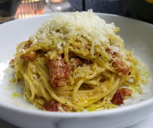 bacon, food, and italian image