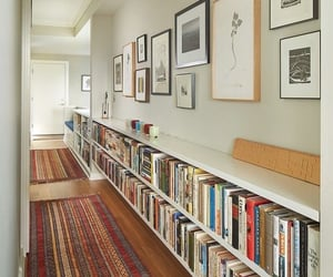 books, decor, and house image