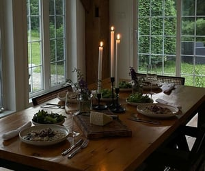 aesthetic, cozy, and dining room image