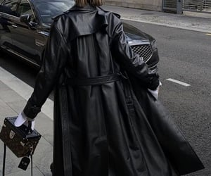 black and leather image