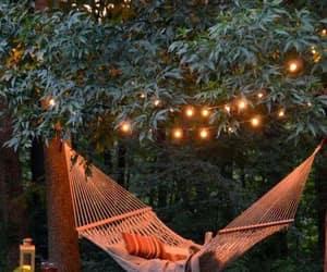 light, hammock, and summer image
