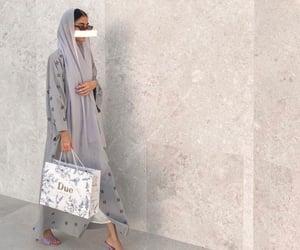 arab, voga, and abaya image