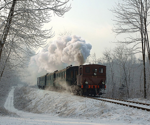 photography, snow, and train image