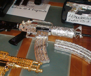 bedazzled, gun, and mexico image