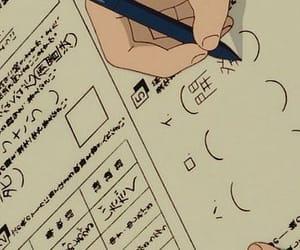 anime, school, and homework image