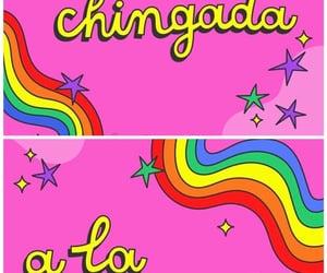 arcoiris, wallpaper, and pink image