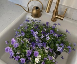 flowers, aesthetic, and purple image