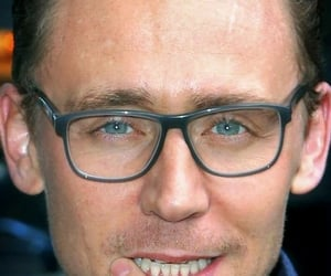 blue eyes, eyes, and glasses image