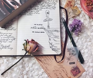 aesthetic, ballerina, and book image
