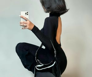 black, chic, and hair image