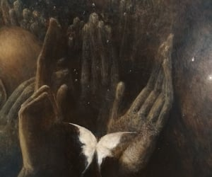 art, Beksinski, and butterfly image