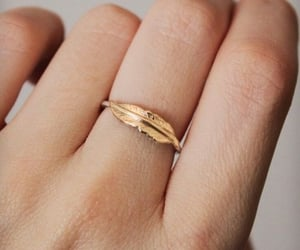ring, fashion, and feather image