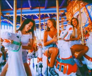 amusement park, friends, and best friends image