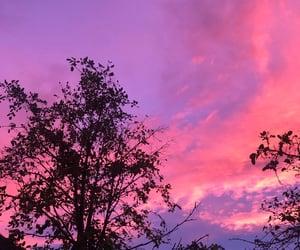 aesthetic, purple clouds, and purple sky image