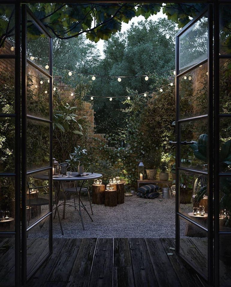 lights, garden, and home image