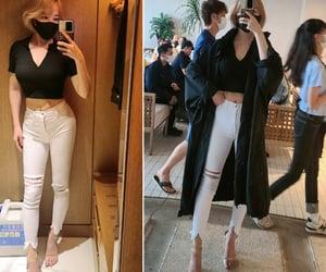 denim, fashion, and fashionnova image