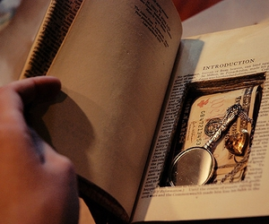 book, mirror, and heart image