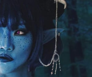 blue, fantasy, and horns image