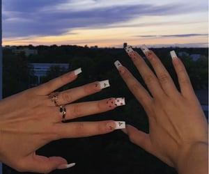 beautiful, long, and nails image