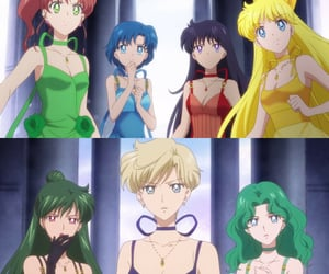 sailor moon, minako aino, and ami mizuno image