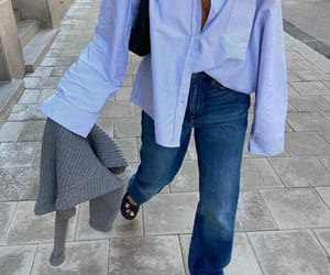blogger, look, and oversized blouse image