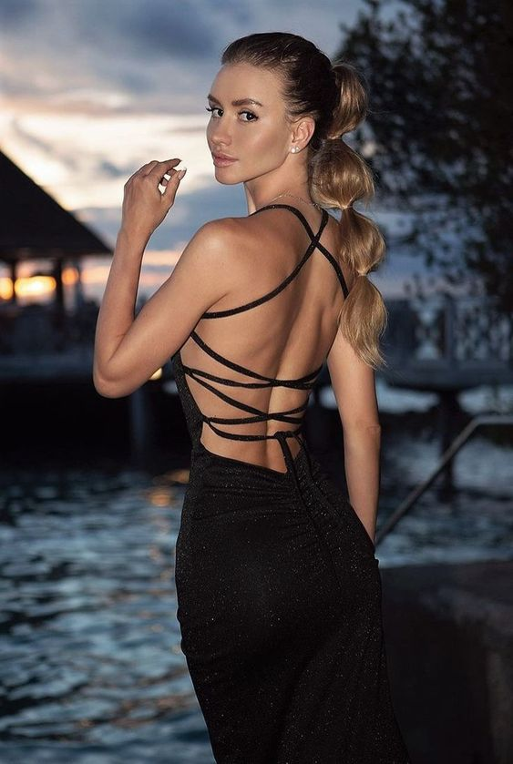 backless, beauty, and black image