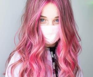 haircolor, pink color, and hair transformation image