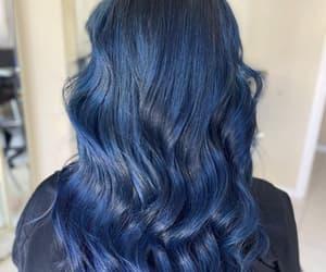 blue hair, haircolor, and diy hair image
