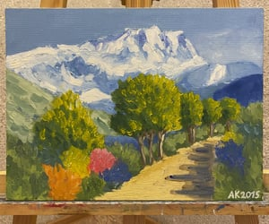 art, artist, and mountain image